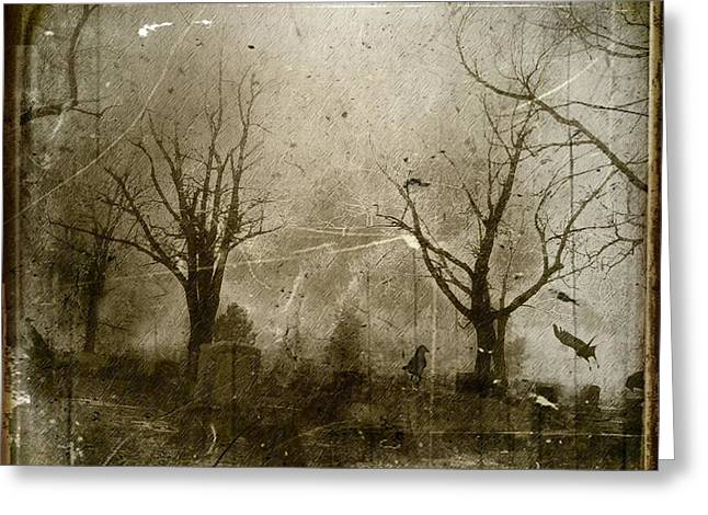 Antique Style Greeting Cards - Faded Night Light Greeting Card by Gothicolors Donna Snyder