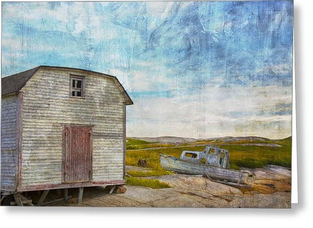 Newfoundland Greeting Cards - Fading Away Greeting Card by Edser Thomas