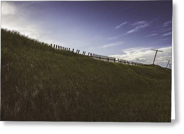 Fence Pole Greeting Cards - Fading Impressions 3 Greeting Card by Wayne Stadler