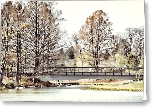 Bare Trees Greeting Cards - Fading Palette of Fall Greeting Card by Julie Palencia