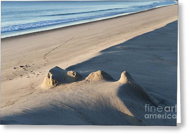 Sand Castles Greeting Cards - Fading Sand Castle Greeting Card by John Greim