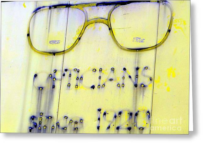 Fading Vision Greeting Card by Ed Weidman