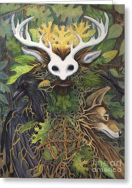 Faerie King Greeting Card by Antony Galbraith