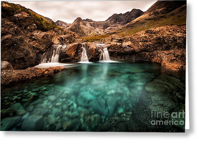 Faeries Greeting Cards - Faerie Pools Greeting Card by Matt  Trimble