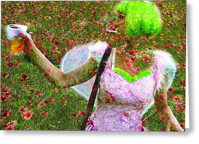 Faeries Greeting Cards - Faerie Greeting Card by Skip Hunt