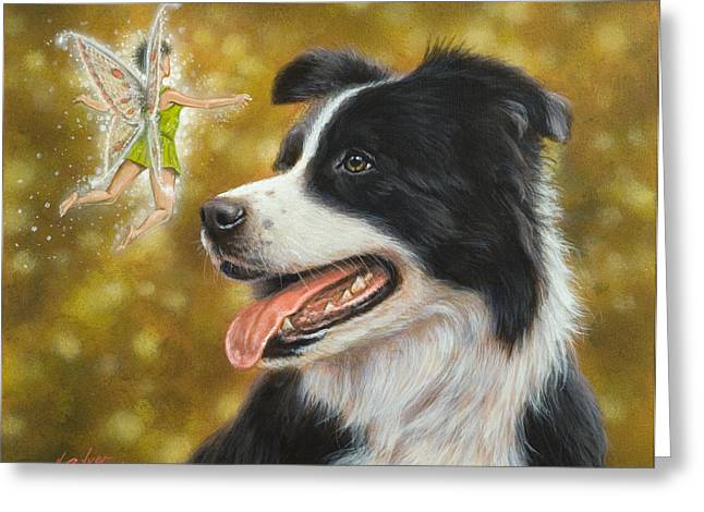 Faerie Paintings Greeting Cards - Faerie tales Greeting Card by John Silver