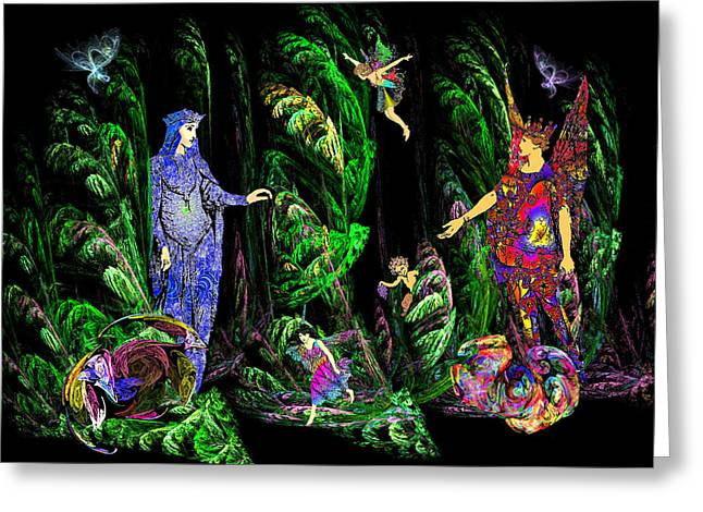 Faery Forest Greeting Card by Lisa Yount