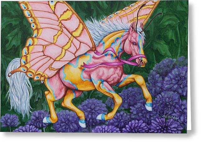 Beth Clark-mcdonal Greeting Cards - Faery Horse Hope Greeting Card by Beth Clark-McDonal
