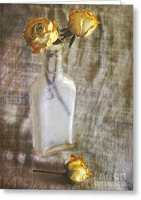 Glass Bottle Greeting Cards - Fahrenheit 103  Greeting Card by Elena Nosyreva