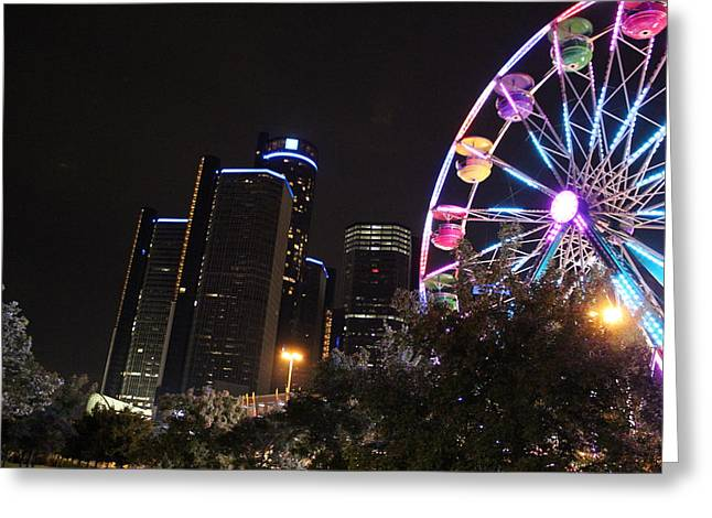 Renaissance Center Greeting Cards - Fair Detroit Greeting Card by Dave Glover