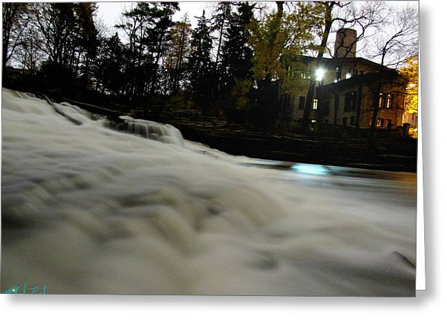 Edison Greeting Cards - Fair Lane Waterfall Greeting Card by Michael Rucker