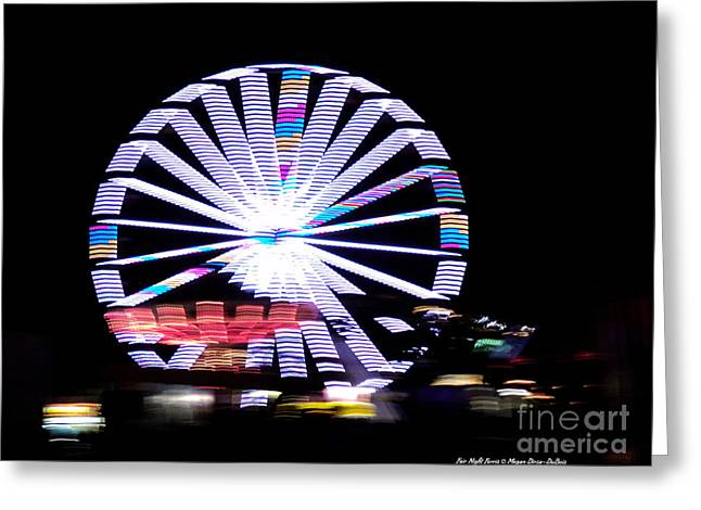 St. Lucie County Greeting Cards - Fair Night Ferris Greeting Card by Megan Dirsa-DuBois