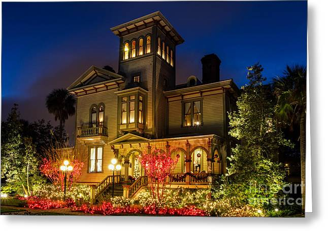 Beach At Night Greeting Cards - Fairbanks House Fernandina Beach Florida Greeting Card by Dawna  Moore Photography