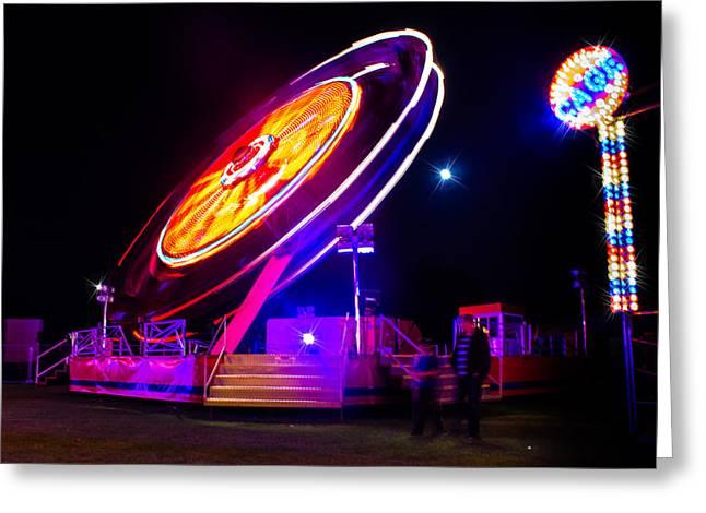 Fun Fair Greeting Cards - Fairground 1 Greeting Card by Ian Hufton