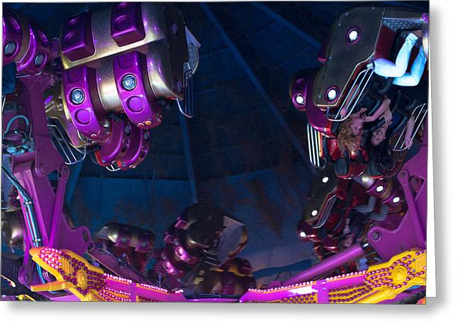 Headfirst Greeting Cards - Fairground Attraction Greeting Card by Frank Gaertner