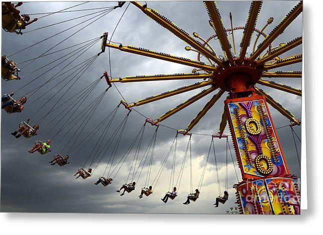 Lethbridge Greeting Cards - Fairground Fun 1 Greeting Card by Bob Christopher