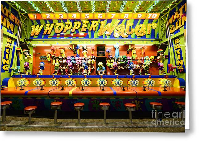 Fairground Fun Sideshow 2 Greeting Card by Bob Christopher