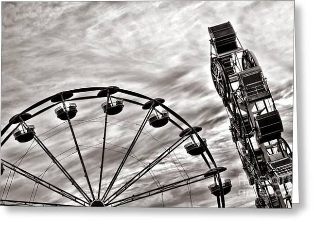 Amusement Ride Greeting Cards - Fairground Greeting Card by Olivier Le Queinec
