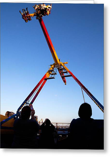 Fairground Greeting Cards - Fairground Ride , Tramore, County Greeting Card by Panoramic Images