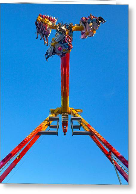 Fairground Greeting Cards - Fairground Ride, Tramore, County Greeting Card by Panoramic Images