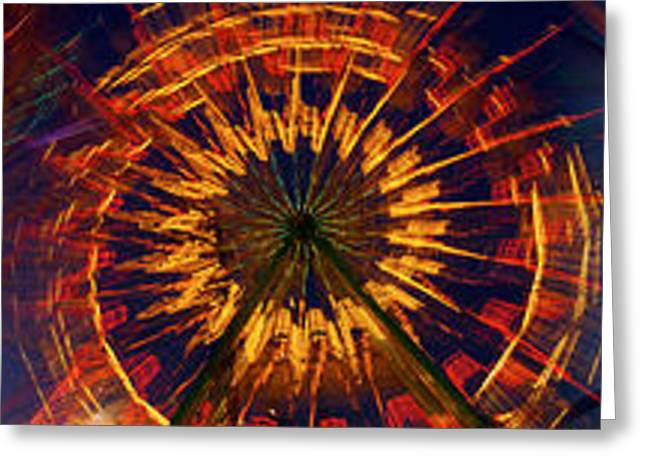 Amusements Greeting Cards - Fairgrounds Greeting Card by Panoramic Images