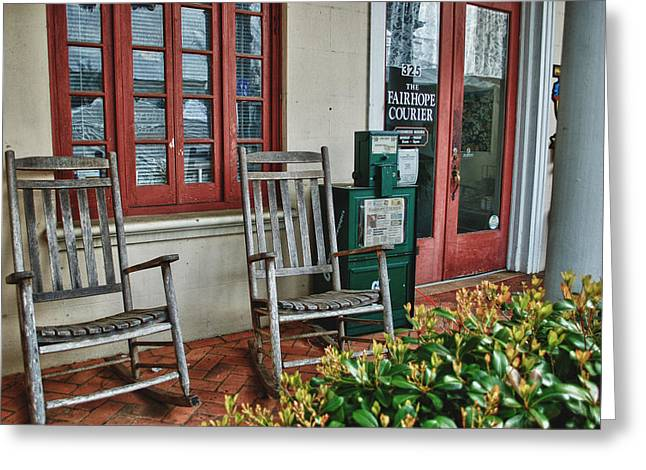 Fairhope Courier Greeting Card by Michael Thomas