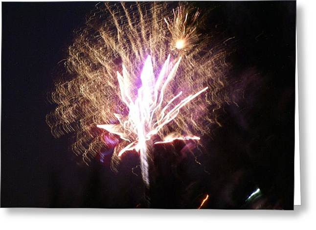Fairies in the Fireworks I Greeting Card by Jacqueline Russell