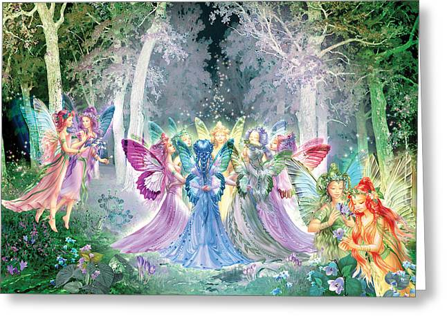 Gathering Photographs Greeting Cards - Fairies Song Greeting Card by Zorina Baldescu
