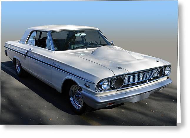 Wild Racers Greeting Cards - Fairlane 500  Greeting Card by Bill Dutting