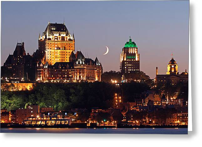 Fairmont Le Chateau Frontenac Greeting Card by Juergen Roth