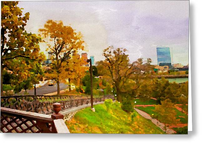 Philadelphia Pyrography Greeting Cards - Fairmount View Greeting Card by Alice Gipson