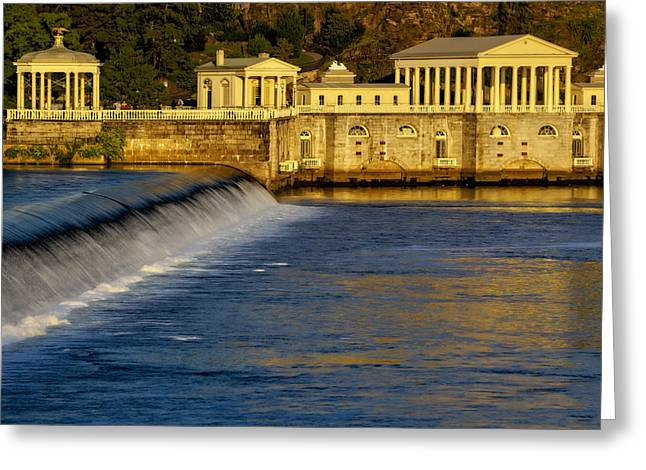 Boat House Row Greeting Cards - Fairmount Water Works Park Greeting Card by Susan Candelario