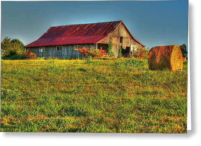 Red Roofed Barn Greeting Cards - FairView Barn Greeting Card by Kevin Pugh