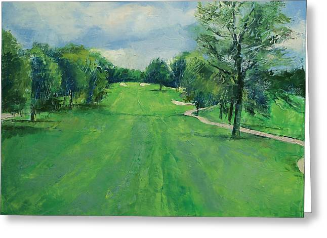 Campo Greeting Cards - Fairway to the 11th Hole Greeting Card by Michael Creese