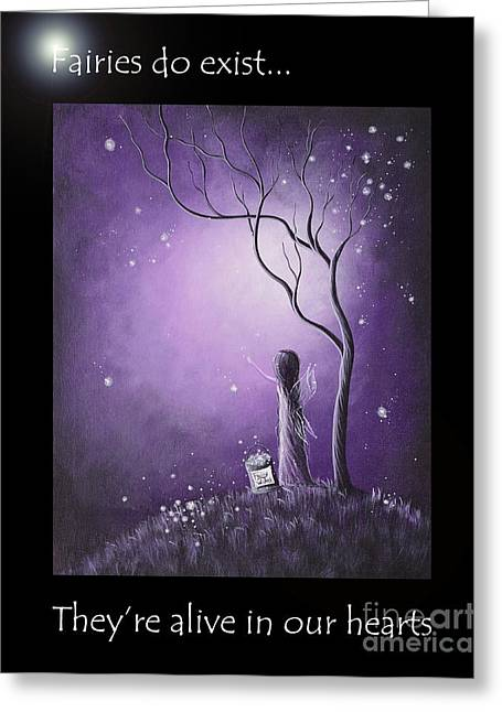 Recently Sold -  - Night Angel Greeting Cards - Fairy Art by Shawna Erback Greeting Card by Shawna Erback