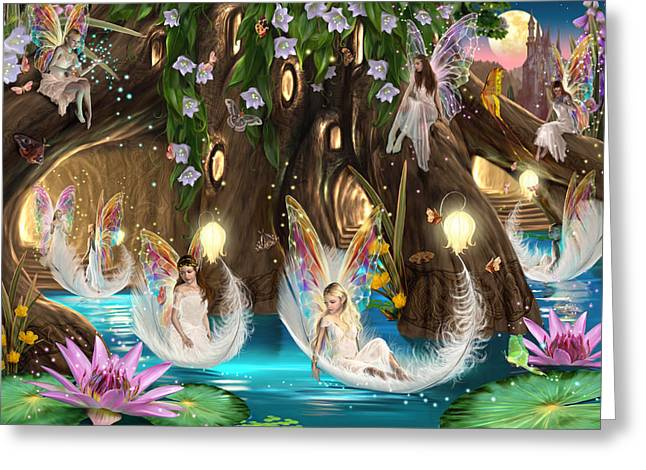Treehouse Greeting Cards - Fairy Ball Greeting Card by Garry Walton