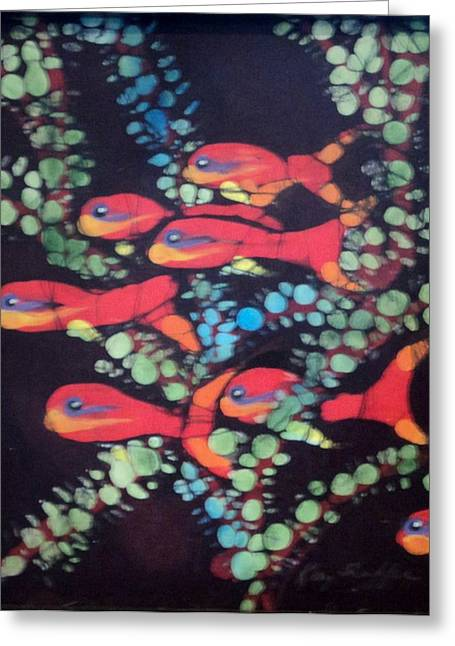 Fine Art Tapestries - Textiles Greeting Cards - Fairy Basslets Greeting Card by Kay Shaffer