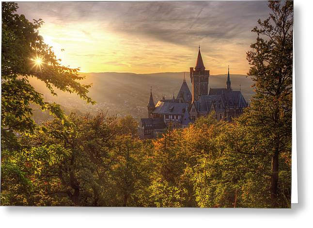 Himmel Greeting Cards - Fairy Castle Greeting Card by Steffen Gierok