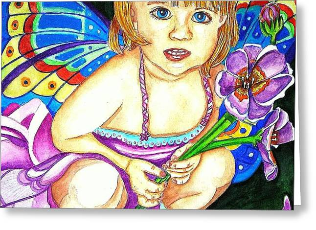 Fairy Child Greeting Card by Judy Moon