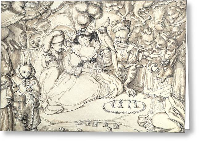 Goblins Greeting Cards - Fairy Concert, C.1830 Greeting Card by Charles Kirkpatrick Sharpe
