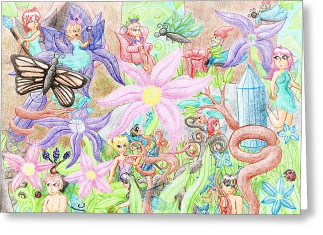 Recently Sold -  - Princes Greeting Cards - Fairy Court Greeting Card by Alicia Pesce