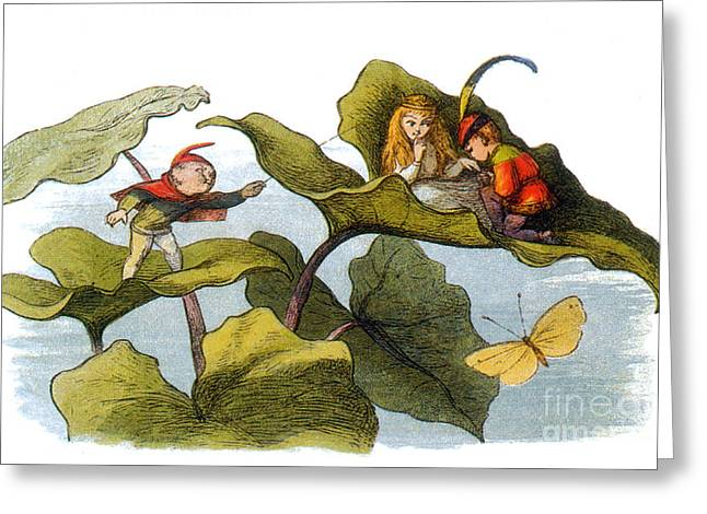 Folk Lore Greeting Cards - Fairy Courtship Cut Short Greeting Card by Photo Researchers