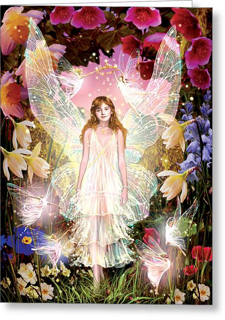 Fantasy Greeting Cards - Fairy Crowning Greeting Card by Garry Walton