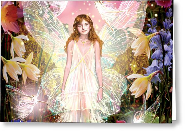 Fairy Crowning Greeting Card by Garry Walton