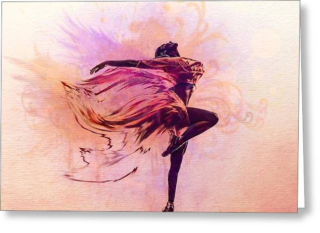 Floating Girl Greeting Cards - FAiry Dance Greeting Card by Lilia D