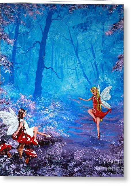 Jean Walker Greeting Cards - Fairy Dancer Greeting Card by Jean Walker