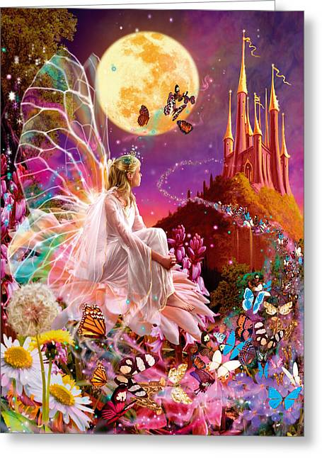 Fantasy Greeting Cards - Fairy Dream Variant 2 Greeting Card by Garry Walton