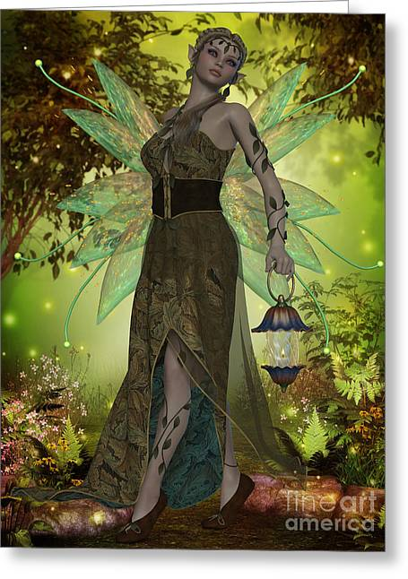 Folktale Greeting Cards - Fairy Gaia Greeting Card by Corey Ford