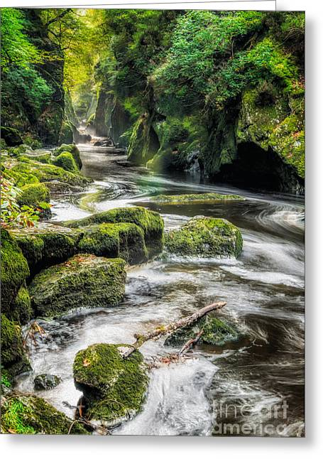 Rapids Greeting Cards - Fairy Glen Greeting Card by Adrian Evans
