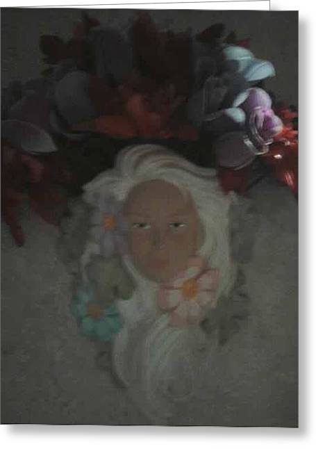 Fairies Ceramics Greeting Cards - Fairy in 3d Greeting Card by Rachel Eckert